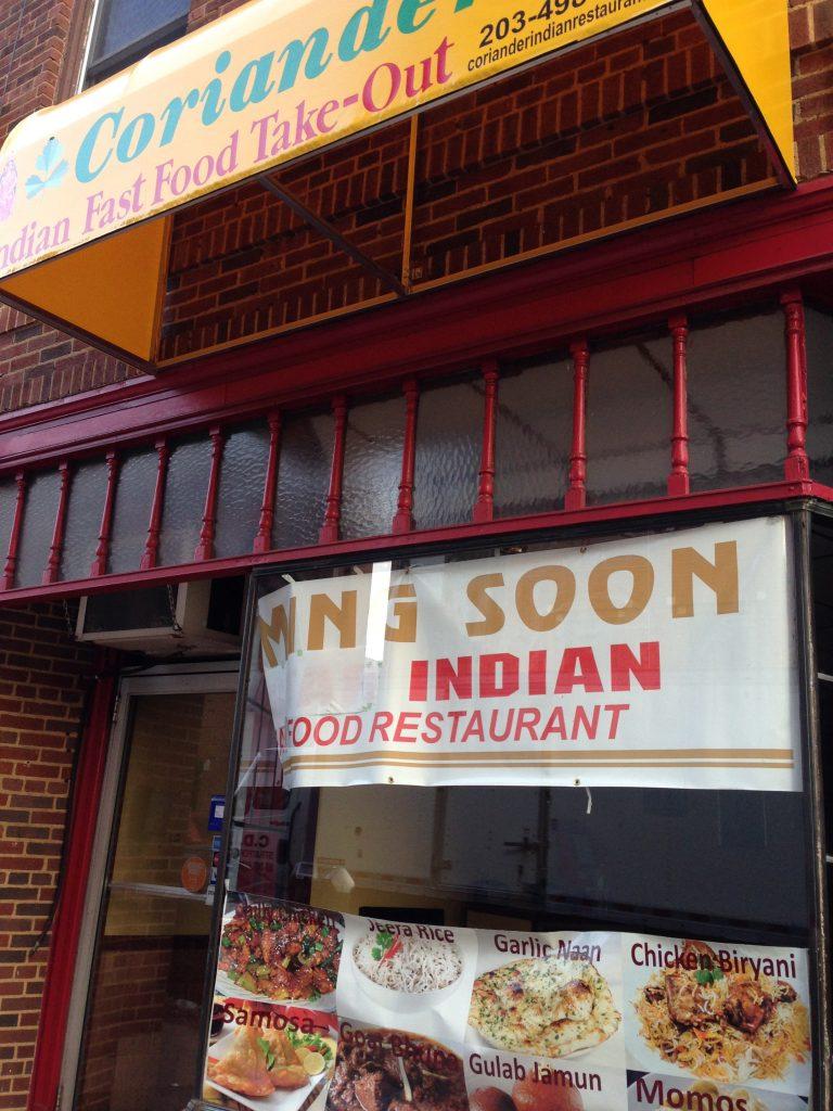 Coriander Indian Food New Haven