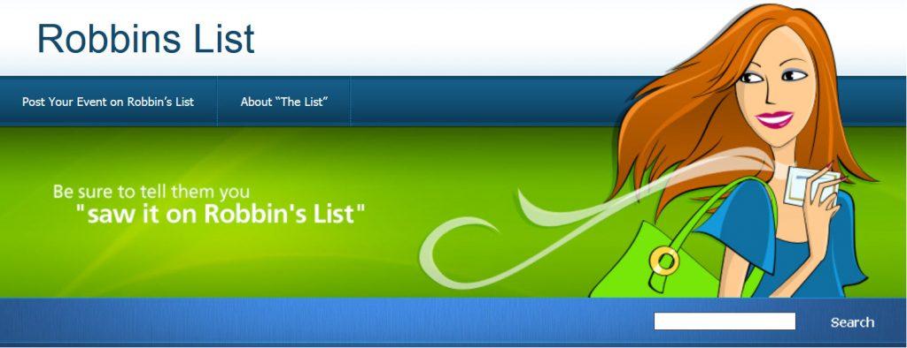 Robbin's List Banner