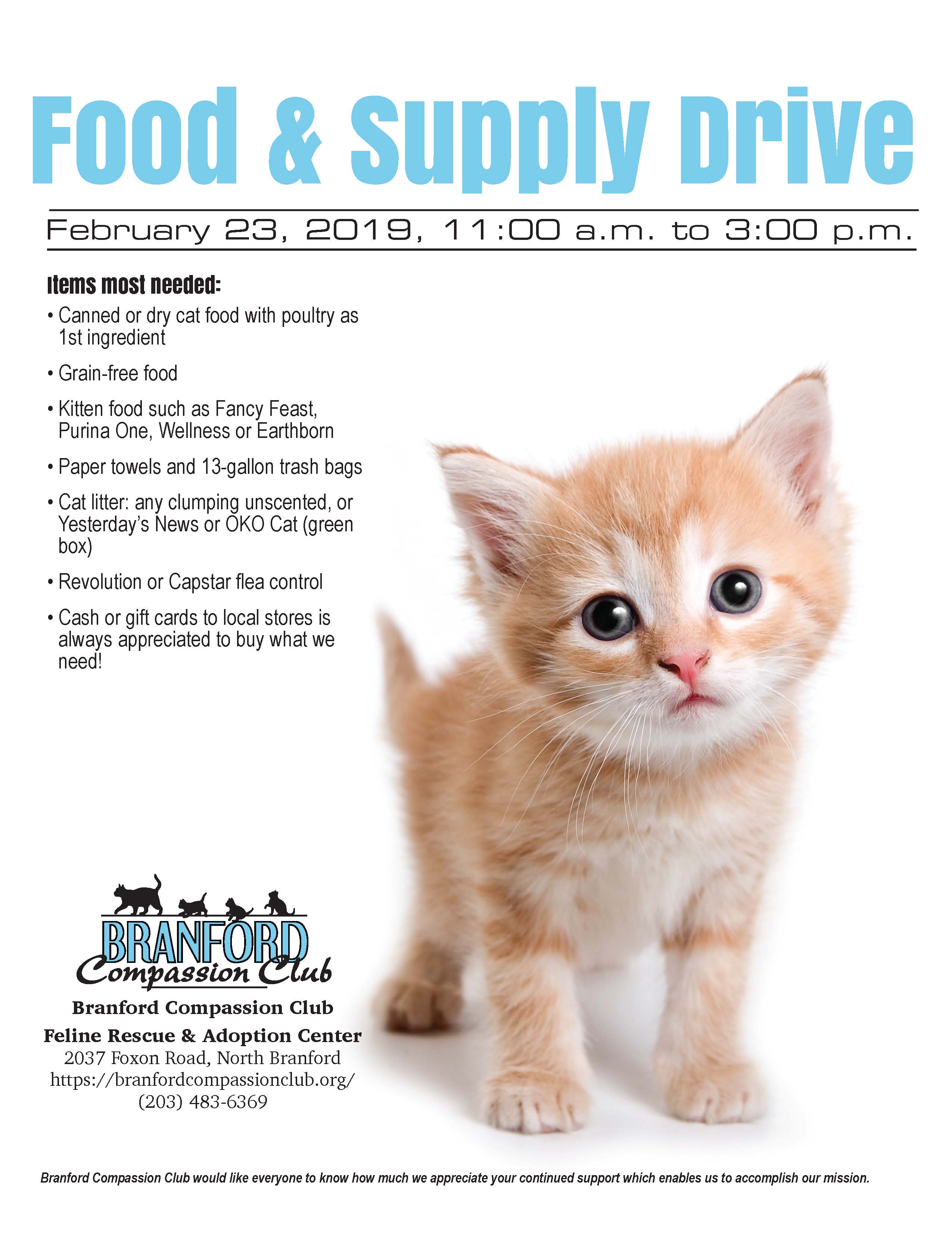 BCC 2019 Food & Supply drive